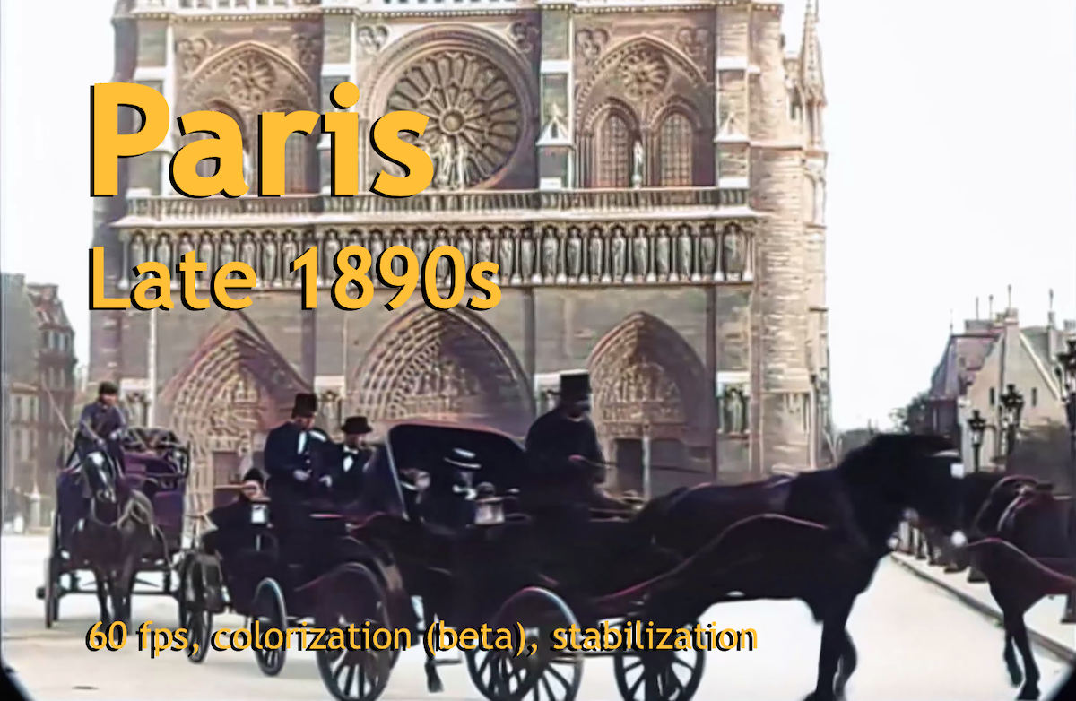 A Trip Through Paris, France in late 1890s | ALTES MATERIAL VIA KI IN 4K 60FPS UND FARBE | ZEITREISE GALORE