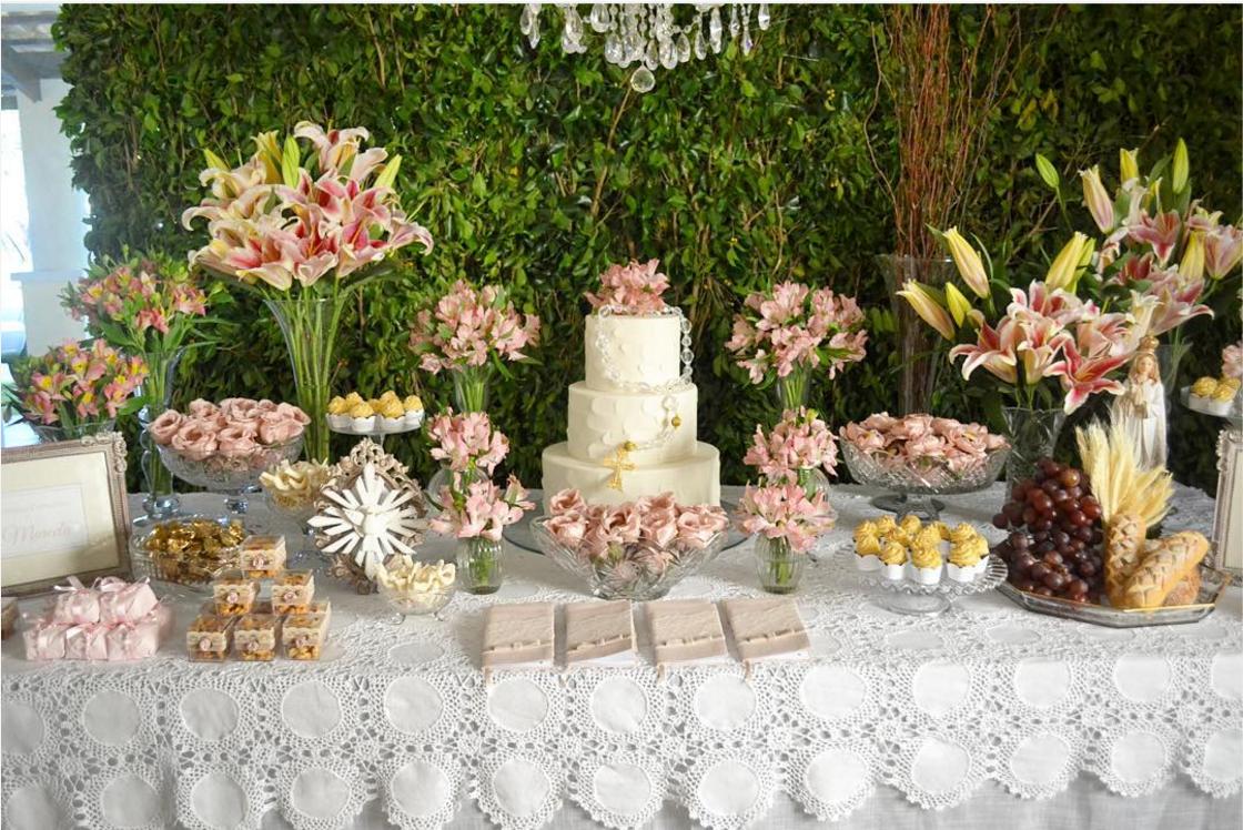 Ideas para la mesa de dulces de la primera comuni n for Decoracion mesa comunion nina