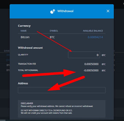 how to deposit and withdraw bitcoin