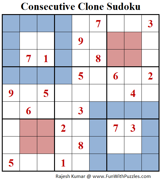 Consecutive Clone Sudoku (Daily Sudoku League #143)