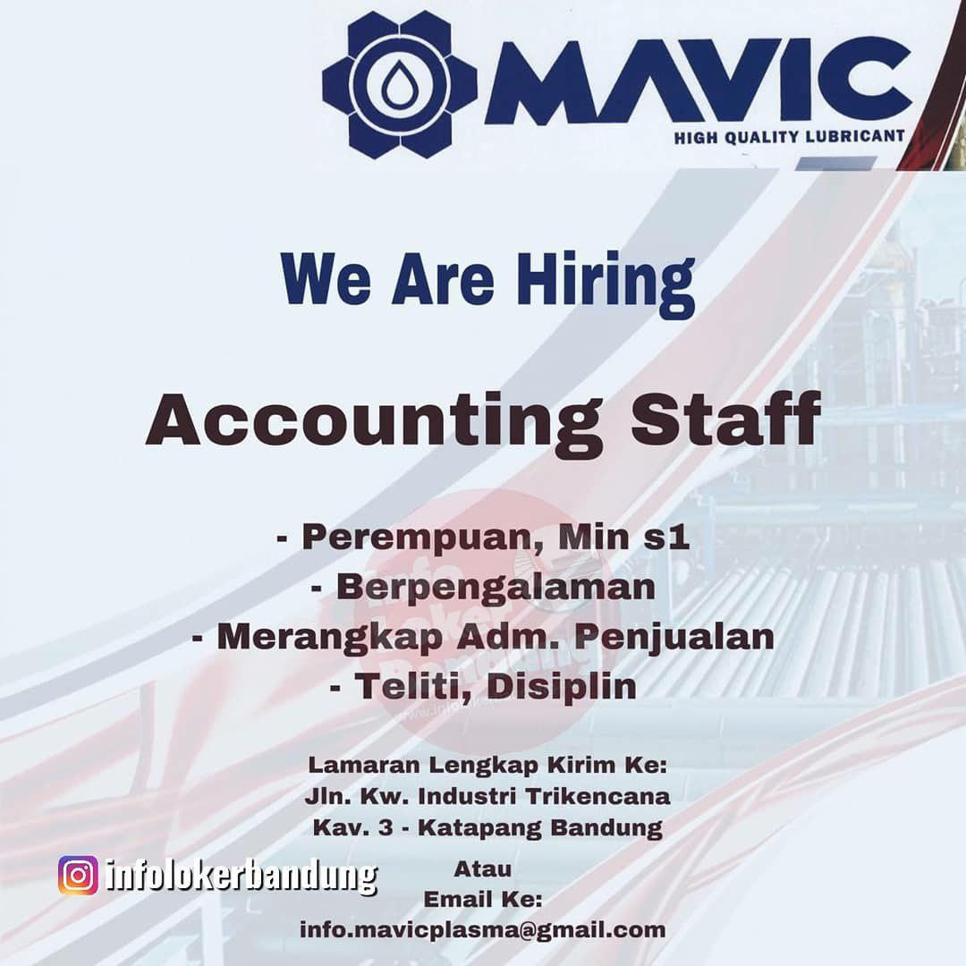 Lowongan Kerja PT. Mavic Lestarindo Persada Bandung November 2019
