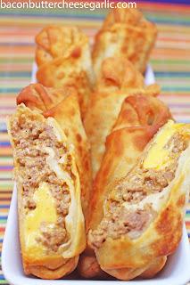 Cheeseburger Eggrolls