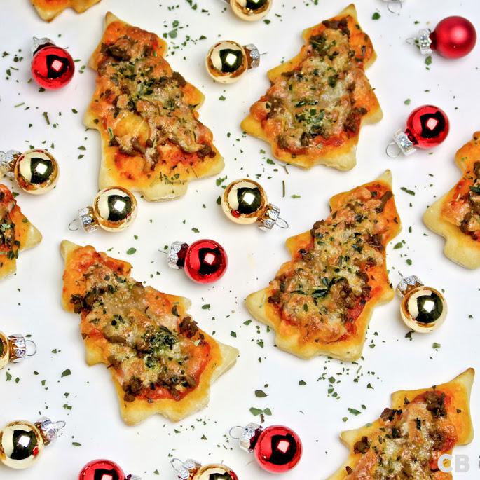 Recept Kersttip: kerstboompizzaatjes met kruidig  gehakt!