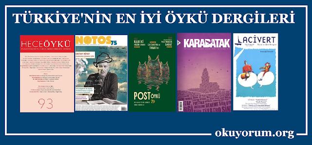 Türkiye'nin En İyi Öykü Dergileri : Hece Öykü, Notos, Post Öykü, Katabatak ve Lacivet