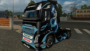 Volvo 2013 Blue Dragon skin