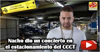 Nacho dio un concierto en el estacionamiento del CCCT