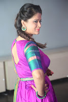 Shilpa Chakravarthy in Purple tight Ethnic Dress ~  Exclusive Celebrities Galleries 017.JPG