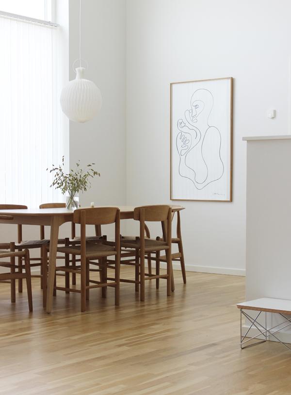 Dining room, scandinavian interior, Christiane Spangsberg, via scandinavianlovesong.com