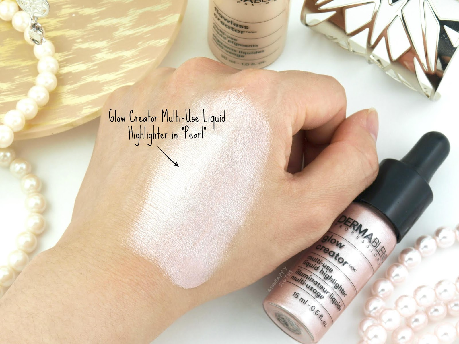 "Dermablend | Glow Creator Multi-Use Liquid Highlighter in ""Pearl"": Review and Swatches"