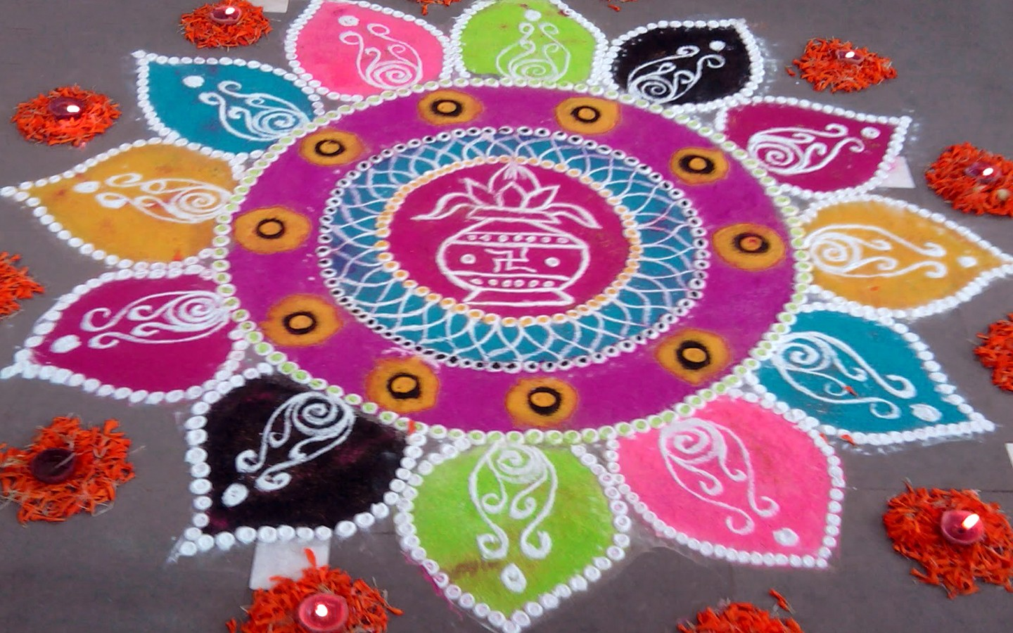 Happy Holi Rangoli Images