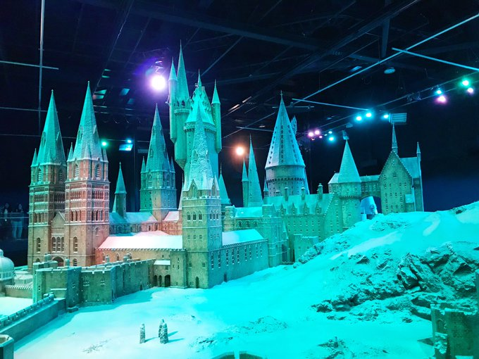 Hogwarts in the snow at Harry Potter studio tour