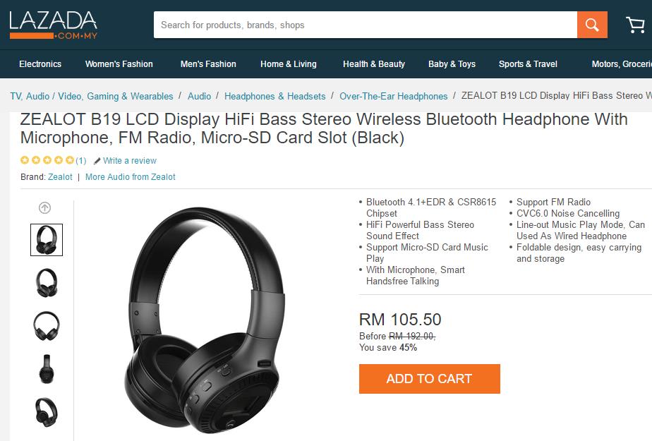 Headphone, wireless