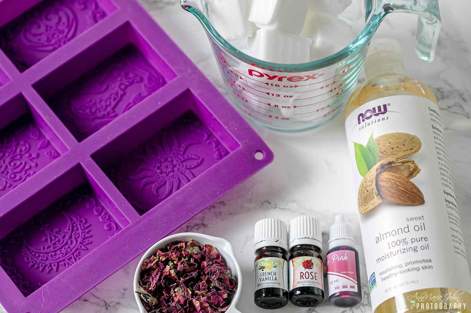 Vanilla Rosebuds Petals Soap Supplies Needed
