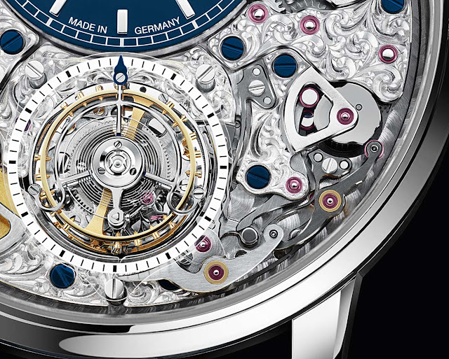 Detail of the Glashütte Original Senator Chronometer Tourbillon Limited Edition