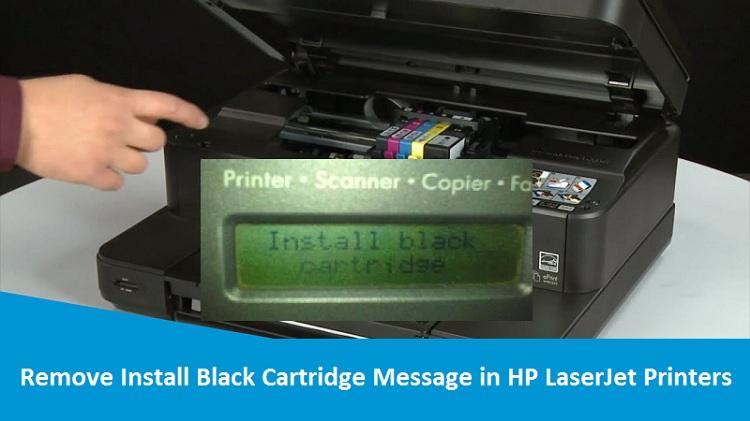 Install Black Cartridge Message in HP LaserJet Printers