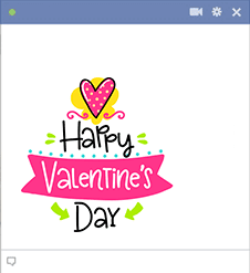 Happy Valentine's Day Facebook Emoji