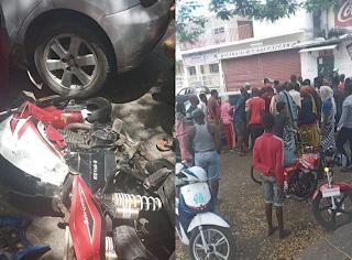 Mutsamudu : Un motard termine sa course sous le pneu d'un taxi