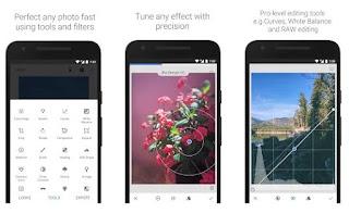 gambar fitur dan tampilan snapseed