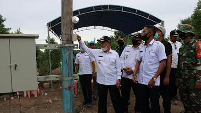 H.M.Haris Resmikan Penambahan Satu Unit Trafo listrik PLTD Desa Serapung