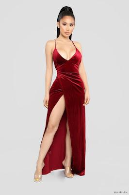 Vestidos Largos con Escote