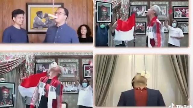 Lihat Aksi Anies Baswedan, Ganjar Pranowo, dan Ridwan Kamil Lomba Makan Kerupuk, Ini Pemenangnya