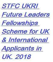STFC UKRI Future Leaders Fellowships, Scholarship, International, UK, Description, Eligibility Criteria, Method of Applying, Application Deadline, Advantage of Scholarship,