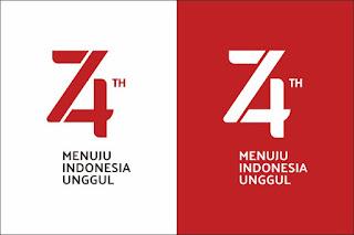 Download Logo HUT Kemerdekaan RI ke-74 Tahun 2019 Terbaru
