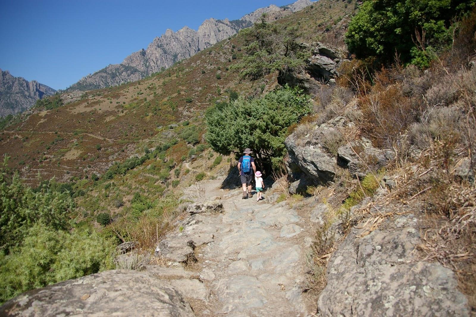 Korsyka góry z dziećmi