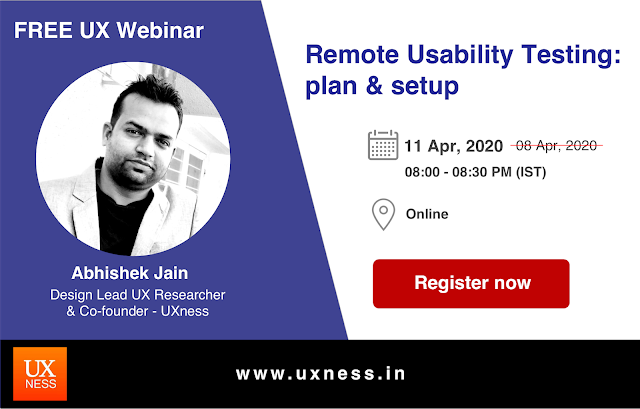 UX Webinar on Remote Usability Testing