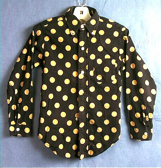 mod 1967 boys polka dot shirt