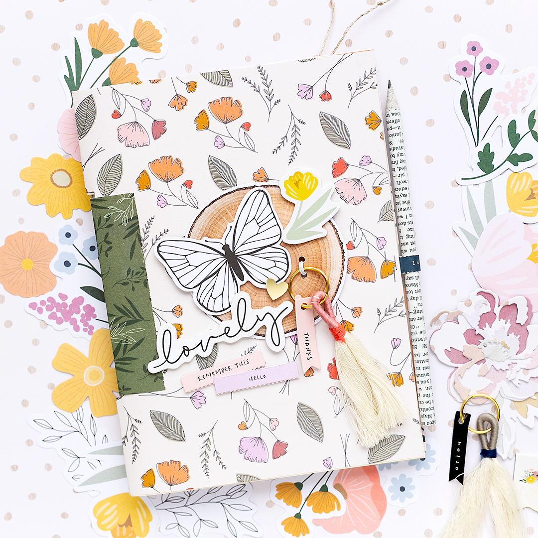 Beautiful Mini Album with Peaceful Heart by Jen Hadfield for American Crafts