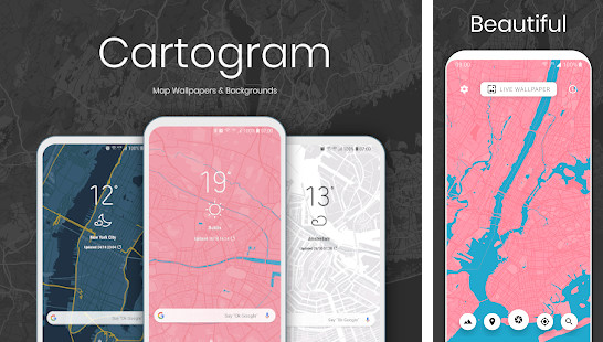 Cartogram - Live Map Wallpapers and Backgrounds