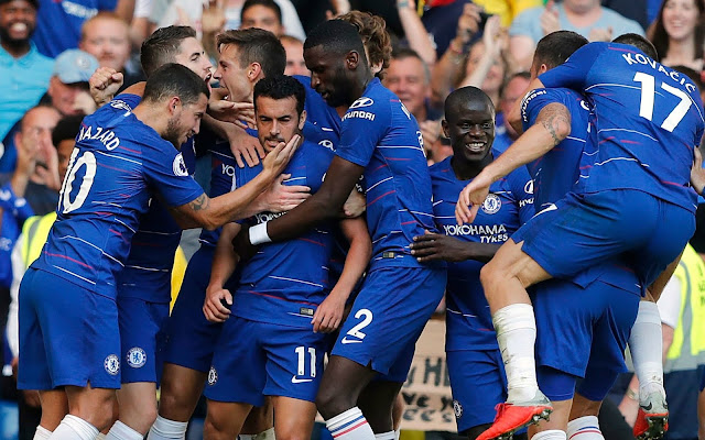 Chelsea maintain 100 per cent start to new season thanks to goals from Pedro and Eden Hazard