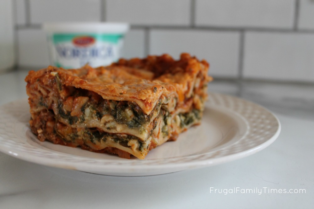 Healthier Lasagna With Spinach And Cottage Cheese