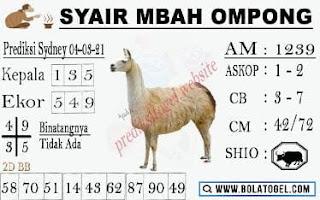 Syair Sydney Mbah Ompong