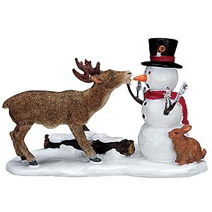 Mini Snowman and Deer for Terrarium