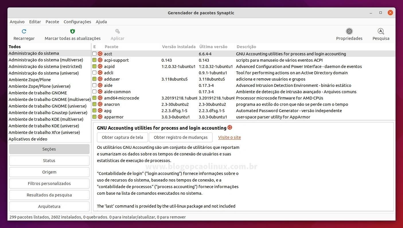 Como instalar o Synaptic no Ubuntu 21.10 (Impish Indri)