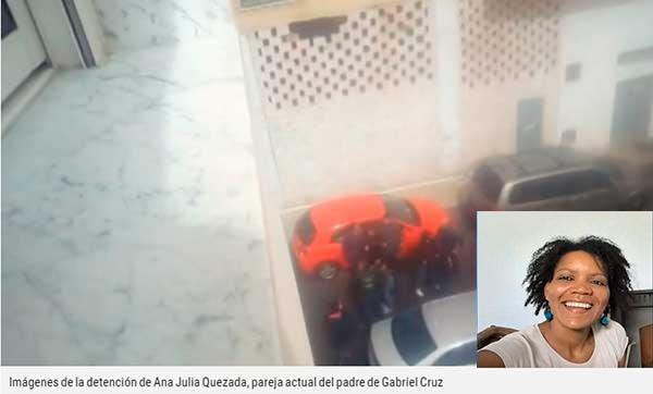 Vídeo detención  novia padre Gabriel Cruz