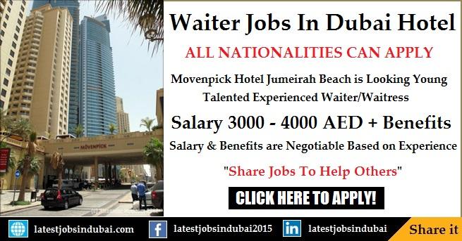 Waiter Waitress jobs in Dubai Hotels