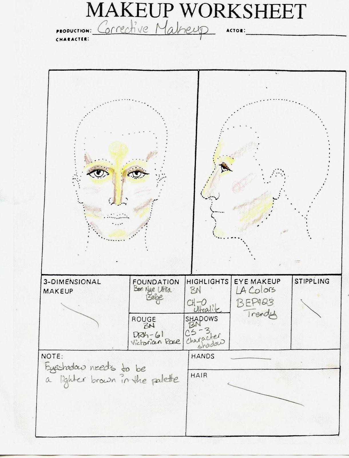 Stage Makeup Morgue Corrective Makeup
