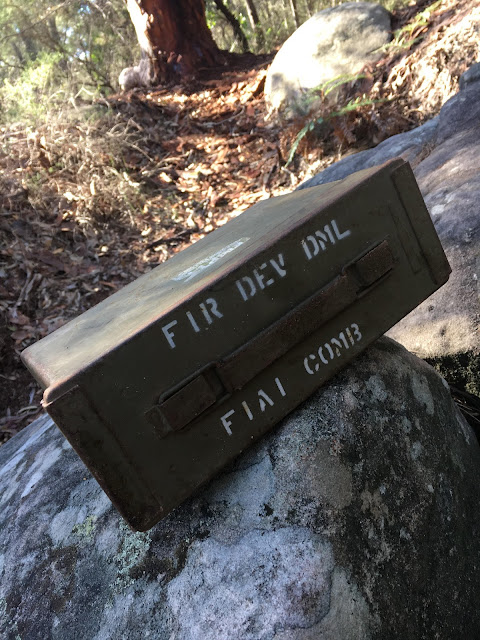 World War Two Ammunition Case Geocache in Oatley Park