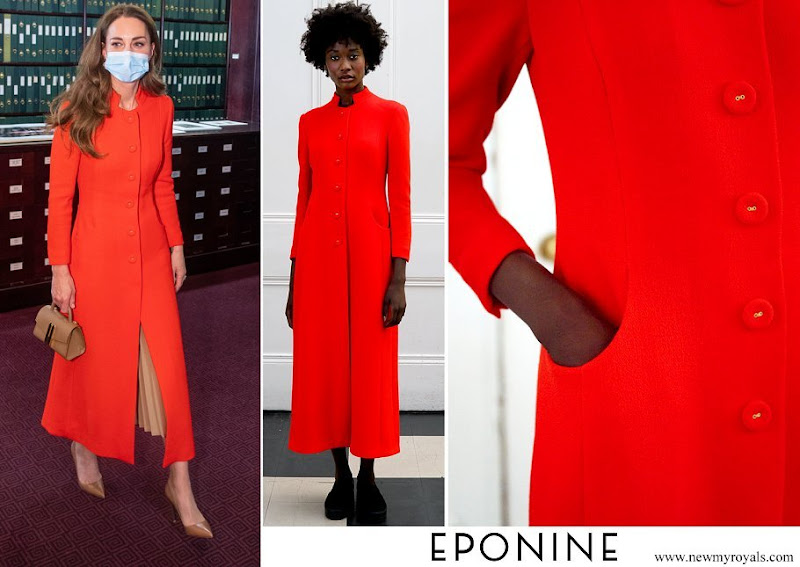 Kate Middleton wore Eponine London coat Autumn Winter 2018 collection
