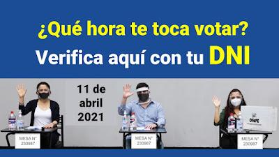 Elecciones 2021 a que HORA debo votar? Lleva tu lapicero mascarilla y careta Link ONPE