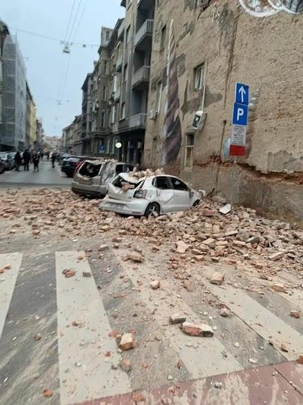 Δείτε τις πρώτες εικόνες με τις ζημιές που προκάλεσε ο σεισμός στο Ζαγκρεμπ