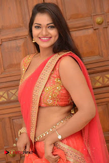 Actress Ashwini Latest Pictures in Red Half Saree  0006