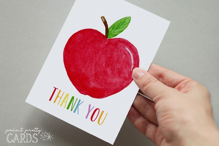 Printable Teacher Thank You Cards