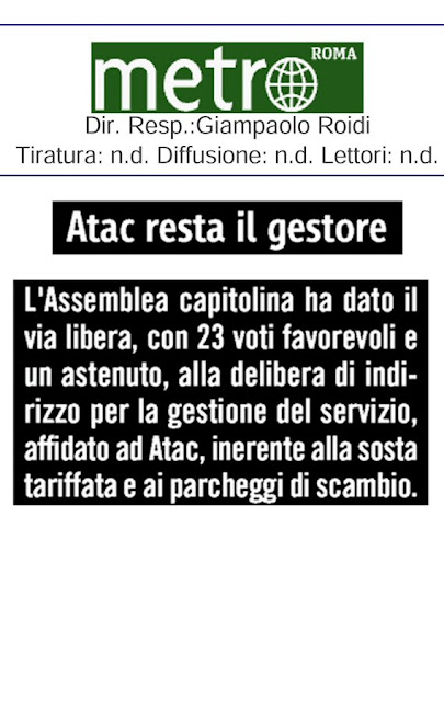 Situazione del trasporto pubblico di Roma di lunedì 2 marzo