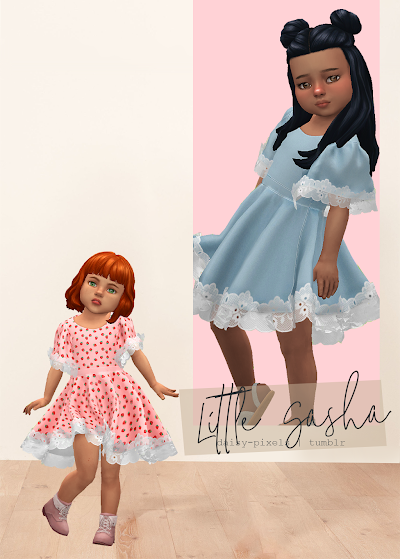 - ̗̀ Little Sasha Dress ̖́- (TS4)