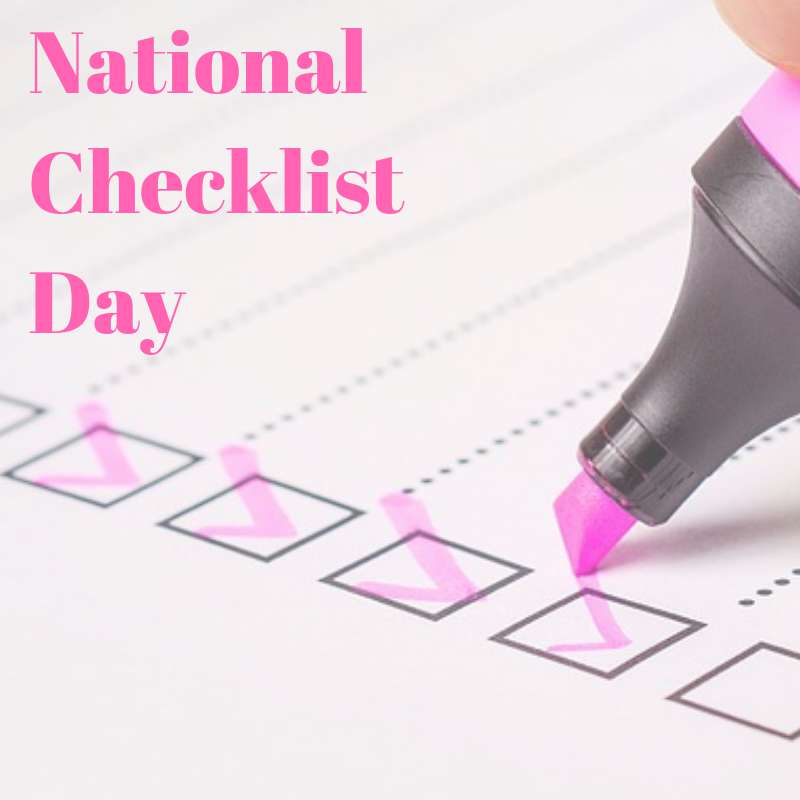 National Checklist Day Wishes Photos