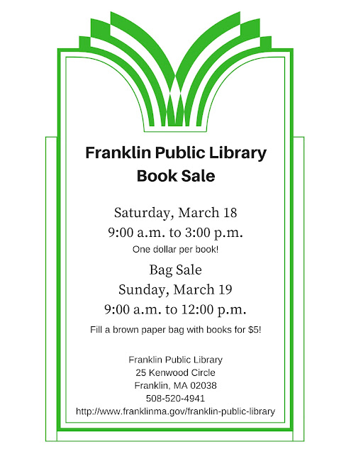 Franklin Public Library Book Sale: Sat-Sun, Mar 18-19